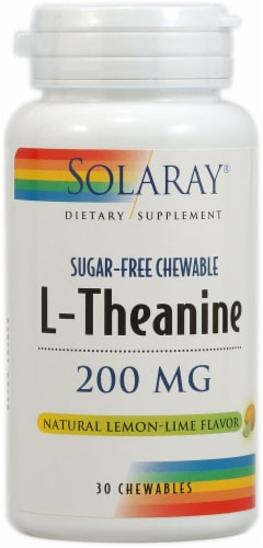 Solaray  L-Theanine Sugar-Free   Lemon Lime Perspective: front