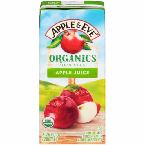 Apple & Eve 100% Organic Apple Juice Boxes Perspective: front