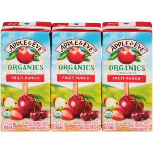 Apple & Eve Organic Fruit Punch Juice Boxes Perspective: front
