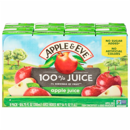 Apple & Eve 100% Apple Juice Boxes Perspective: front