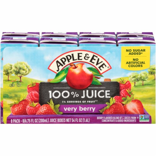 Apple & Eve Organic Very Berry Juice Boxes Perspective: front