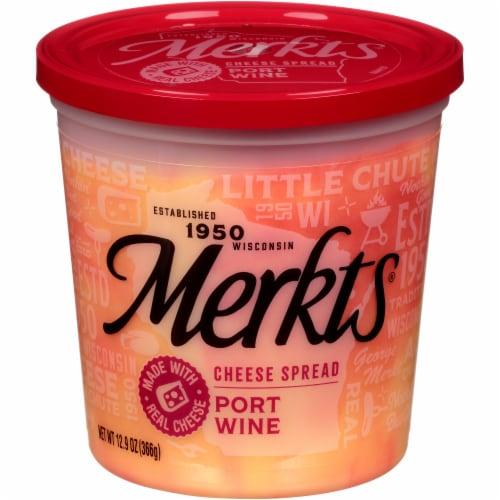 Merkts Port Wine Cheese Spread Perspective: front