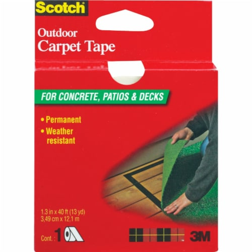 3M Scotch 1-3/8 In. x 40 Ft. Heavy Duty Carpet Tape CT3010 Perspective: front
