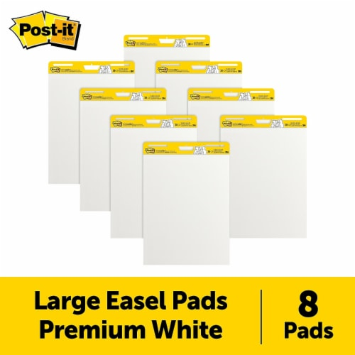 Self-Stick Easel Pads, 25 x 30, White, 30 Sheets, 8/Pack 1668443 Perspective: front