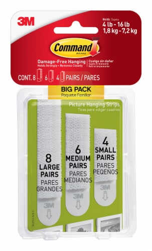 Command™ Assorted Picture Hanging Strips - White Perspective: front
