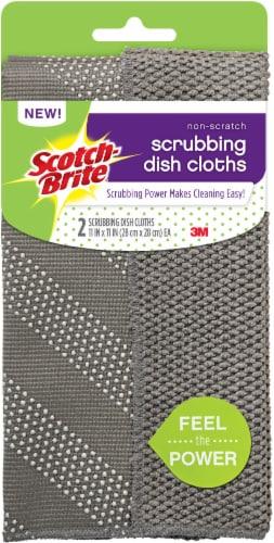 Scotch-Brite™ Scrubbing Dish Cloths - 2 pk Perspective: front