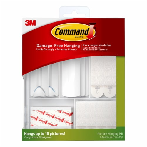 Command™ Damage-Free Picture Hanging Kit 38 Pack - Clear/White Perspective: front