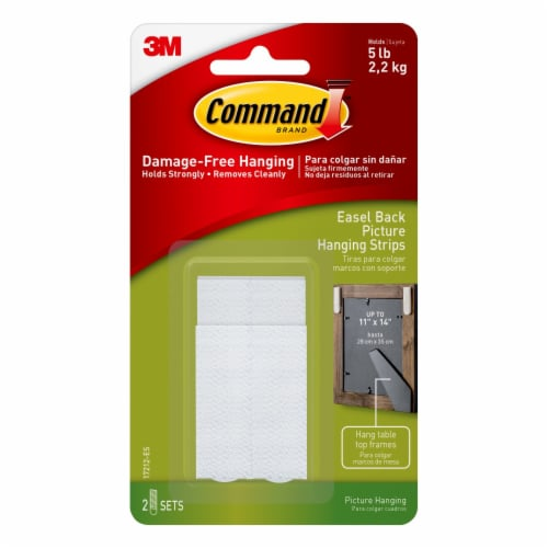 Command™ Easel Back Picture Hanging Strips - White Perspective: front