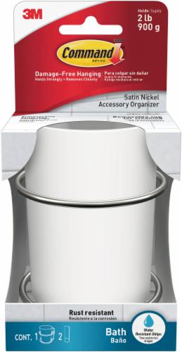 Command™ Satin Nickel Bath Accessory Organizer Perspective: front