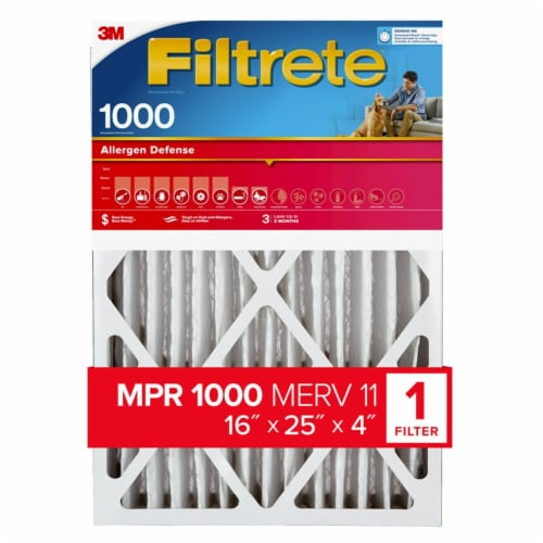 Filtrete Allergen Defense MPR 1000 Air Filter Perspective: front