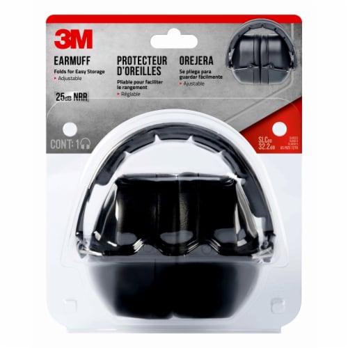 3M Folding Earmuff - Black Perspective: front