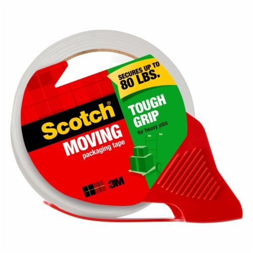 Scotch® Moving & Storage Packaging Tape with Dispenser - Clear Perspective: front