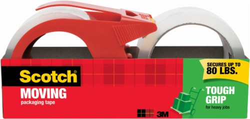 Scotch® Moving Packing Tape with Dispenser 2 Pack - Red Perspective: front