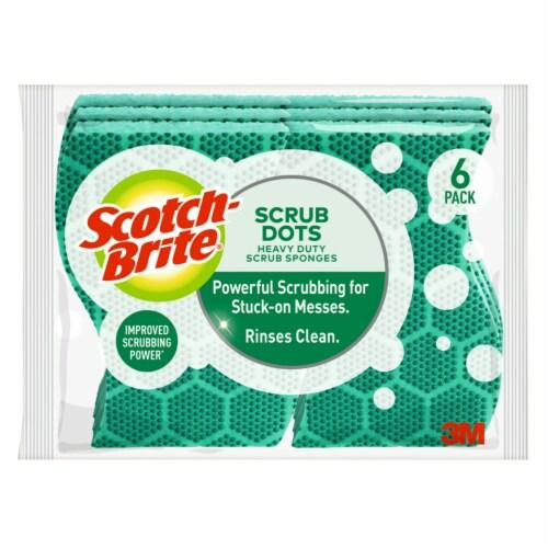 Scotch-Brite™ Scrub Fresh Heavy Duty Scrub Sponge - 6 pk - Green Perspective: front