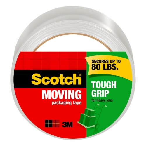 Scotch® Tough Grip Heavy Duty Moving Packaging Tape Perspective: front