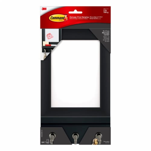 Command Damage-Free Hanging Dry Erase Message Center - Slate Perspective: front