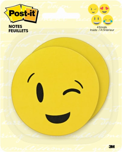 Post-it® Emoji Printed Notes -  2 pack Perspective: front