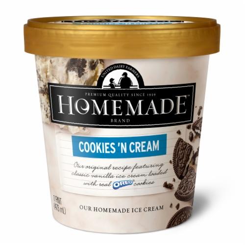 Kroger United Dairy Farmers Homemade Cookies N Cream Ice Cream