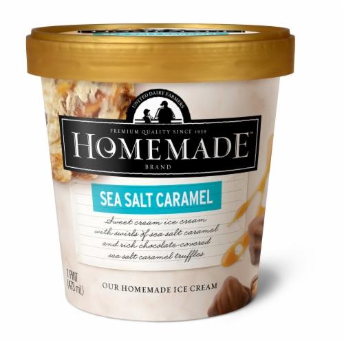 Homemade Brand Sea Salt Caramel Ice Cream Perspective: front