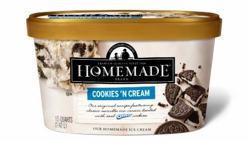 Homemade Brand Cookies 'N Cream Ice Cream Perspective: front