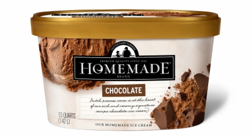 Homemade Brand Chocolate Ice Cream Perspective: front
