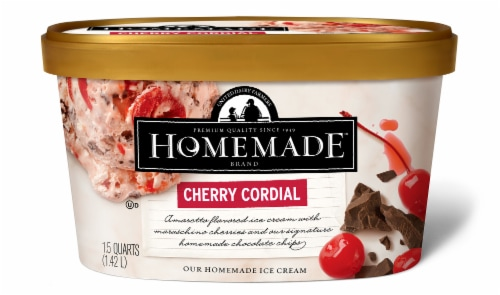 Homemade Brand Cherry Cordial Ice Cream Perspective: front