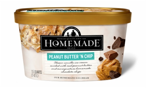 Homemade Brand Peanut Butter 'N Chip Ice Cream Perspective: front