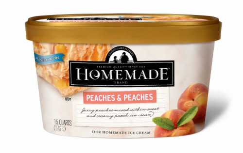 Homemade Brand Peaches & Peaches Ice Cream Perspective: front