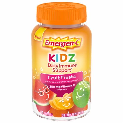 Emergen-C Kidz Fruit Fiesta Immune Support Dietary Supplement Gummies Perspective: front