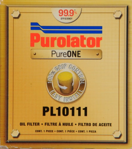 Purolator PL10111 PureONE Oil Filter Perspective: front