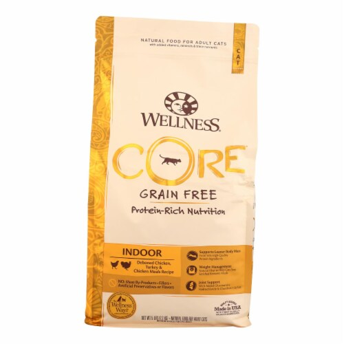 Wellness Pet Products - Cat Dry Indoor Recpe Core - Case of 4 - 5 LB Perspective: front