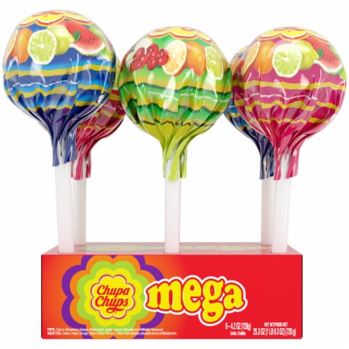 Chupa Chups Assorted Mega Lollipops Perspective: front