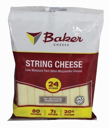 Baker Part-Skim Mozzarella String Cheese Perspective: front