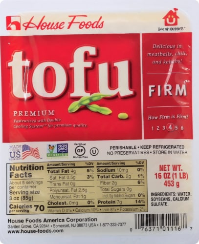 House Foods Firm Premium Tofu Perspective: front