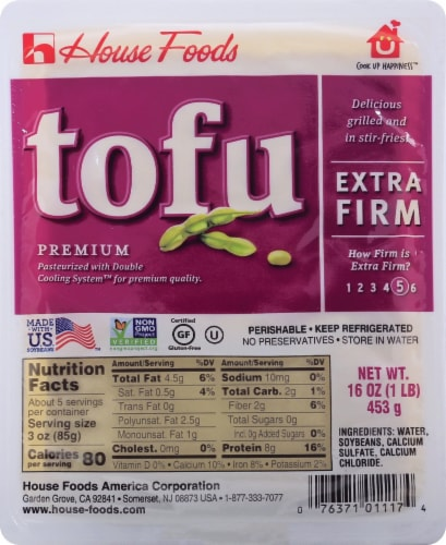 House Foods Extra Firm Tofu Perspective: front