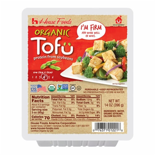 House Foods Organic Firm Tofu Perspective: front