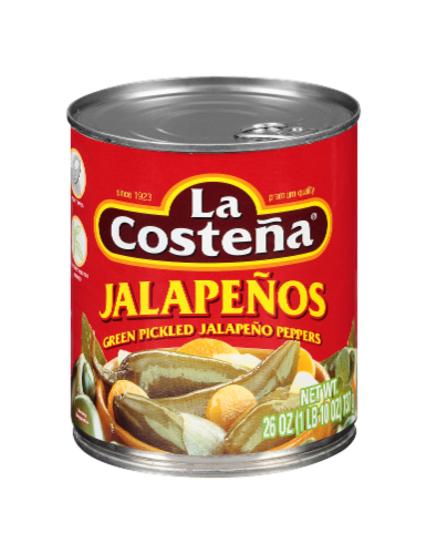 La Costena Whole Jalapeno Peppers Perspective: front