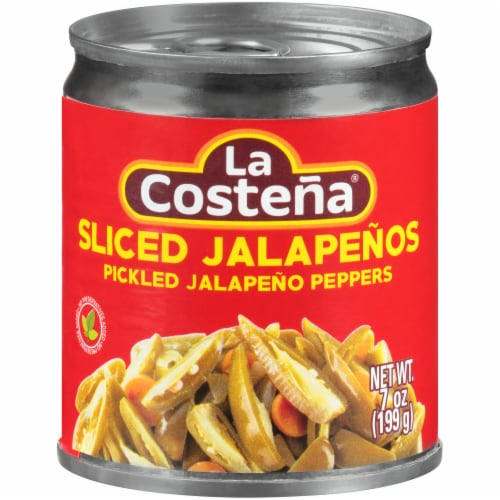 La Costena Green Pickled Sliced Jalapeno Peppers Perspective: front