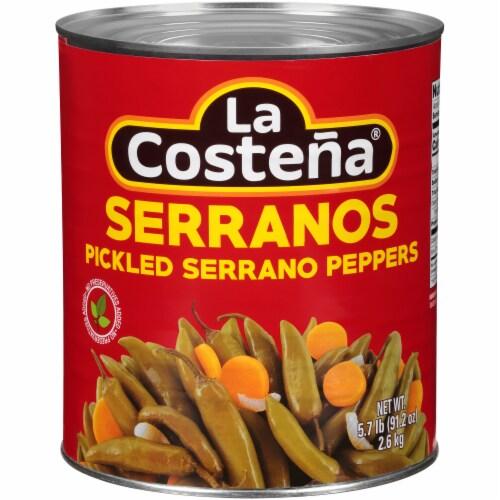 La Costena Pickled Serrano Peppers Perspective: front