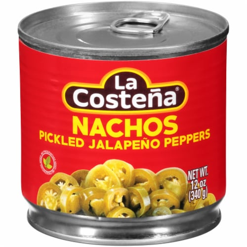 La Costena Pickled Nacho Jalapeno Peppers Perspective: front