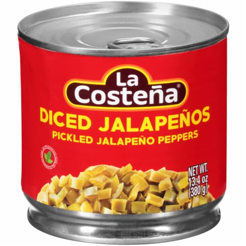 La Costena Diced Jalapeno Peppers Perspective: front