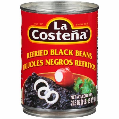 La Costena Refried Black Bean Perspective: front