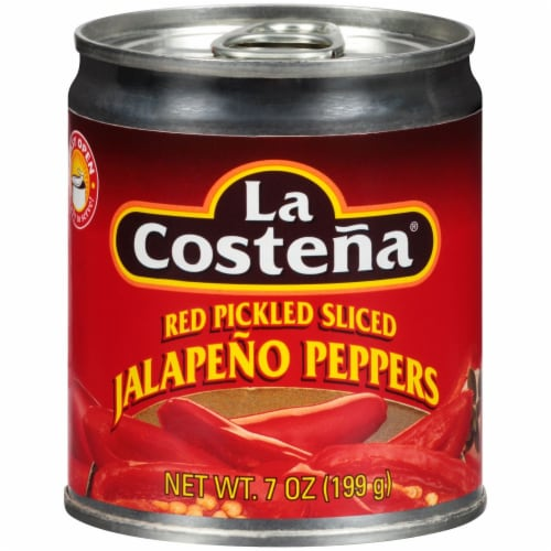 La Costena Pickled Red Sliced Jalapenos Perspective: front