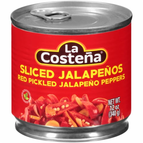 La Costena Red Sliced Pickled Jalapenos Perspective: front
