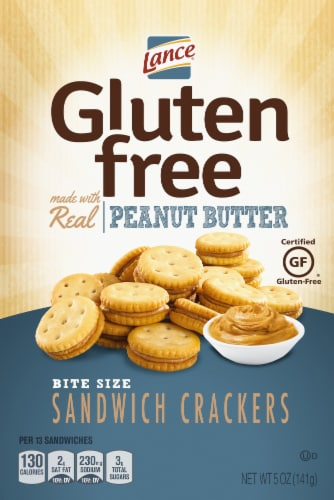 Lance Gluten Free Peanut Butter Bite Size Sandwich Crackers Perspective: front