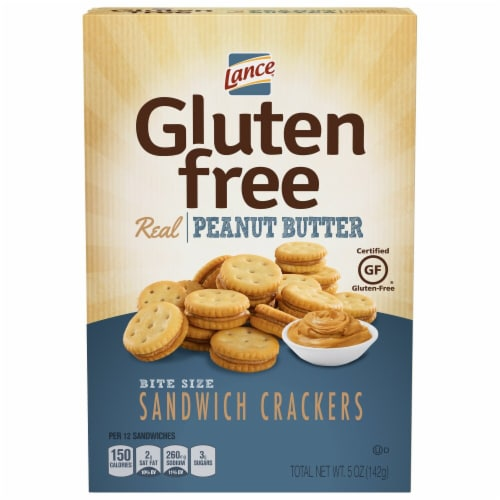 Lance Gluten Free Bite Size Peanut Butter Sandwich Crackers Perspective: front