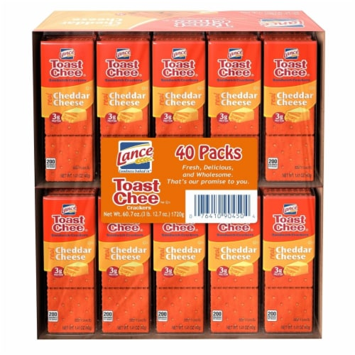 Lance Toast Chee Cheddar Sandwich Cracker (40 Pack) Perspective: front