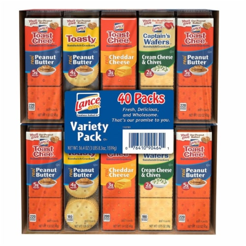 Lance Sandwich Cracker Variety Pack (40 Count) Perspective: front