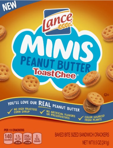 Lance Minis Peanut Butter ToastChee Sandwich Crackers Perspective: front
