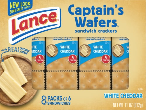 Lance Captain's Wafers White Cheddar Sandwich Crackers Perspective: front